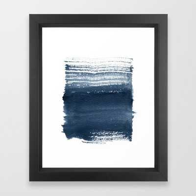 Just Indigo 1 | Minimalist Watercolor Framed Art Print - Society6