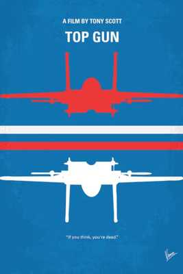 'Top Gun Minimal Movie Poster' Graphic Art on Wrapped Canvas - Wayfair