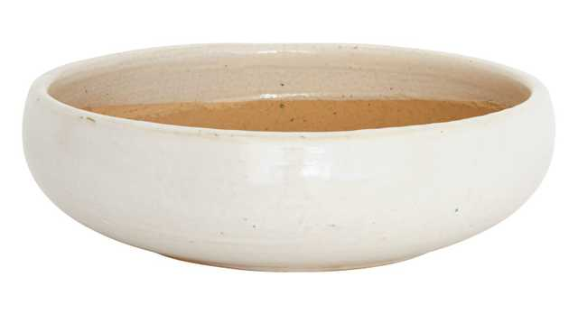 WHITE SHALLOW BOWLS-SMALL - Jayson Home