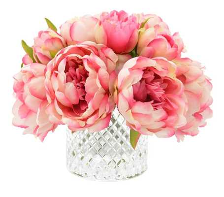 Lush Peony Bouquet - Wayfair