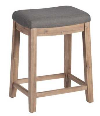 Backless Laila Upholstered Counter Stool - World Market/Cost Plus