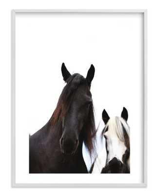 """heathcliff + lockwood - 30"""" x 40"""", white wood frame w/ white border - Minted"""