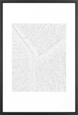 Lines Art Framed Art Print - Vector Black - 26 x 38 - Society6