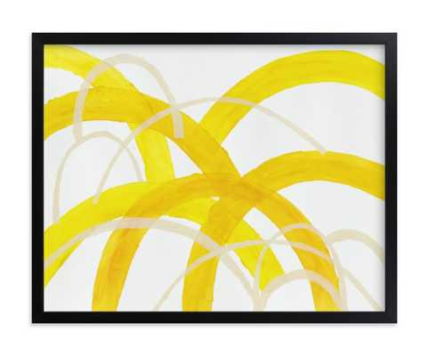 Mountain Sunshine - Rich Black Wood Frame - Minted