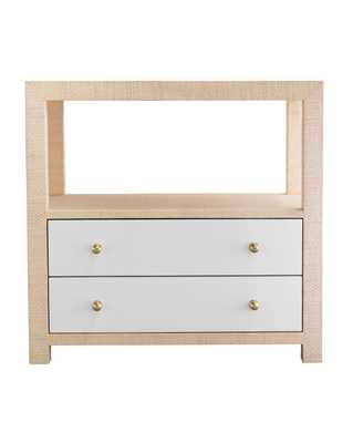 LOUISE NIGHTSTAND, NATURAL & WHITE - McGee & Co.