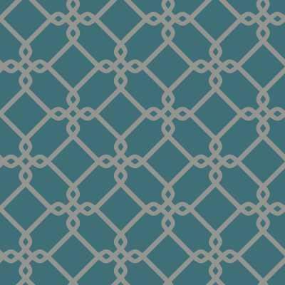 "Ashford Geometrics Threaded Links 33' x 20.5"" Geometric Wallpaper - Wayfair"