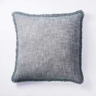 Woven Textured Pillow Blue - Threshold™ designed with Studio McGee - Target