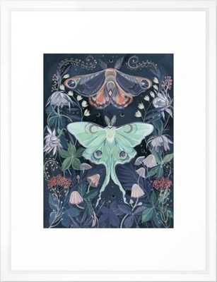 """Luna Moth Framed Art Print - 20 x 26"""" - vector white frame - Society6"""