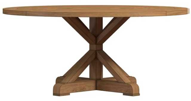 Peralta Round Rustic Solid Wood Dining Table, 54'' D - AllModern
