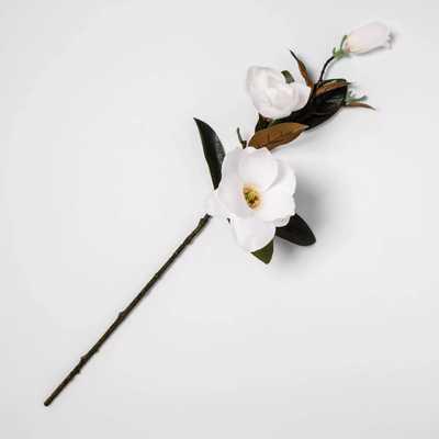 "28"" Artificial Magnolia Stem Green/White - Threshold™ - Target"