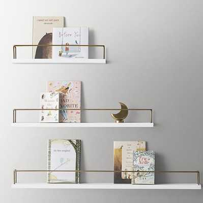 "MINIMALIST BOOK DISPLAY SHELF; 24"" - RH Baby & Child"