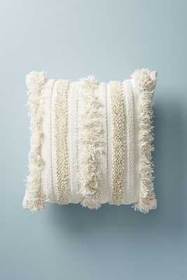 Textured Indira Pillow -20 x 20  - White - Anthropologie