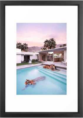"Palm Springs Tigers Framed Art Print, Vector Black, 15"" X 21"" - Society6"