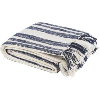 Laguna Throw Blanket, Navy - Cove Goods
