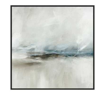 Gray Daze Hand Embellished Canvas Print - Pottery Barn