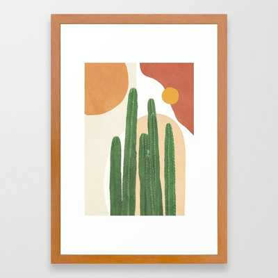Abstract Cactus I Framed Art Print - Society6