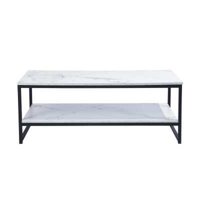 Marble White Katharyn Frame Coffee Table with Storage - Wayfair