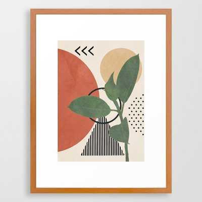 Nature Geometry III Framed Art Print - Society6