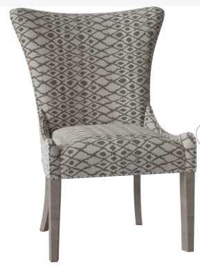 Christine Upholstered Dining Chair // Fabric 2005-084 // Leg - Aged Gray - Perigold