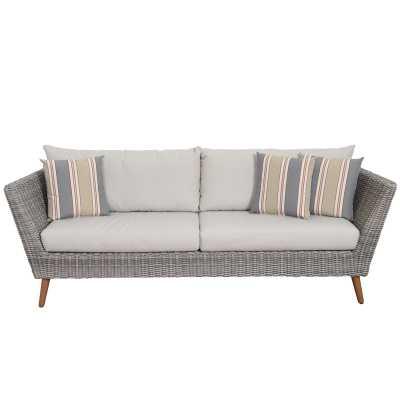 Newbury Patio Sofa with Cushions - Wayfair