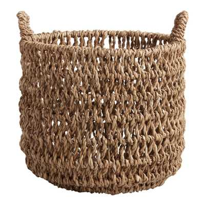 Large Natural Hyacinth Fallon Tote Basket - World Market/Cost Plus