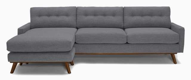 Hopson Reversible Sectional - Essence Ash - Mocha - Included - Joybird