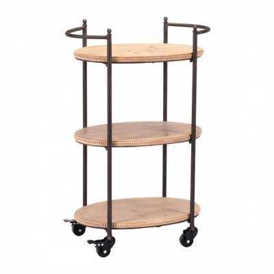 Tri Level Bar Cart Brown - Zuri Studios