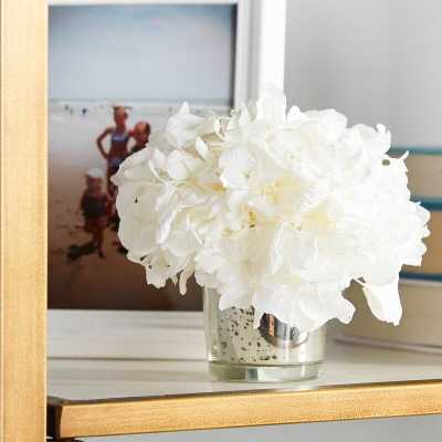 Mini Preserved Hydrangea Floral Arrangement in Vase - Wayfair