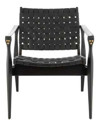 Dilan Leather Safari Chair - Arlo Home