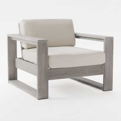 Portside Lounge Chair, Gray - West Elm