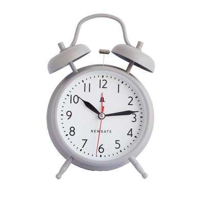 TWIN BELL ALARM CLOCK - OVERCOAT GRAY - McGee & Co.