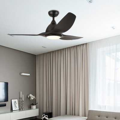 "52"" Mink 3 Blade LED Ceiling Fan with Remote, Light Kit Included - Wayfair"