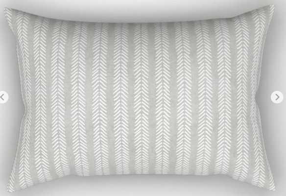 Mud Cloth - Grey Arrowheads Rectangular Pillow - medium - Society6