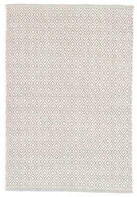 Lattice Dove Grey Woven Cotton Rug - 8' x 10' - Dash and Albert