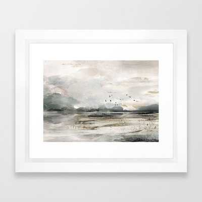 Seascape Sunset Painting Framed Art Print - Society6