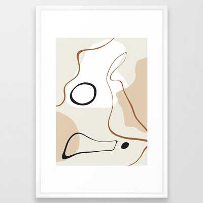 abstract minimal 15 Framed Art Print - Society6