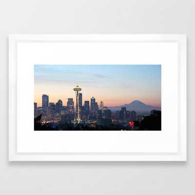 217 Space Needle Skyline Seattle Framed Art Print - Society6