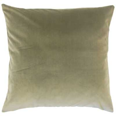 "Classic Velvet Pillow, Oak, 18"" x 18"" - Havenly Essentials"