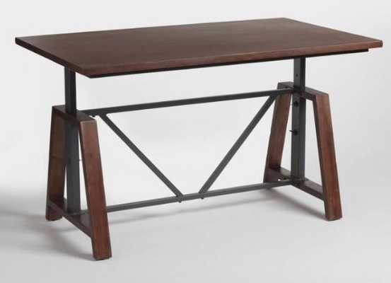 Wood Braylen Adjustable Height Work Table: Brown by World Market - World Market/Cost Plus
