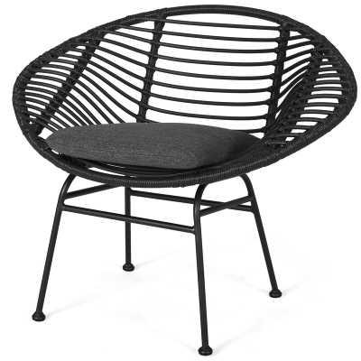 Mccurley Indoor Woven Faux Rattan Papasan Chair - Wayfair