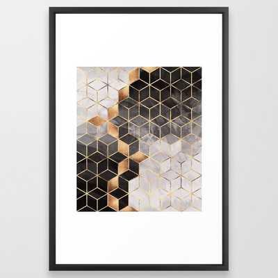 Smoky Cubes Framed Art Print by Elisabeth Fredriksson - Society6