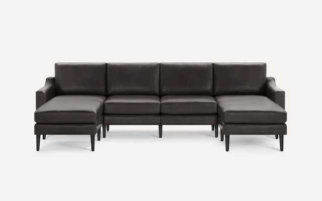 Slope Nomad Leather Double Chaise Sectional - Burrow