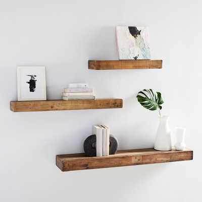 Reclaimed Wood Floating Shelf: 4' - West Elm