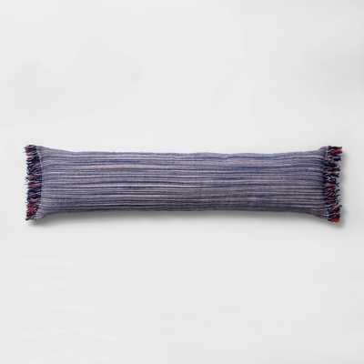 Lumbar Texture Stripe Bed Lumbar Pillow Blue - Opalhouse™ - Target