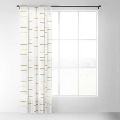 "OCHRE LINE Sheer Curtain - 96"" - Society6"