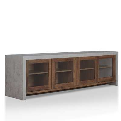 "Behan Transitional 70.86"" TV Stand - Distressed Walnut - AllModern"