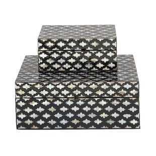 2 Piece Decorative Mop Inlay Box Set - Wayfair
