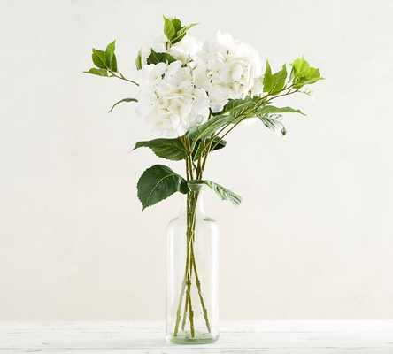 Faux Hydrangea Stem - White - Pottery Barn