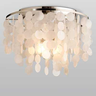 Modern Capiz Shell Flush Mount - Shades of Light
