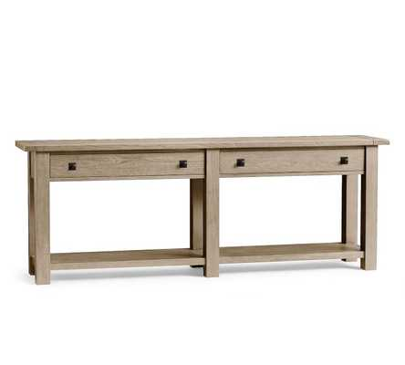 Benchwright Grand Console Table, Gray Wash - Pottery Barn